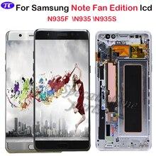 Super AMOLED สำหรับ Samsung Note Fan Edition N935F N935S N935 จอแสดงผล LCD Touch Screen Digitizer ASSEMBLY สำหรับ Samsung Note 7 LCD