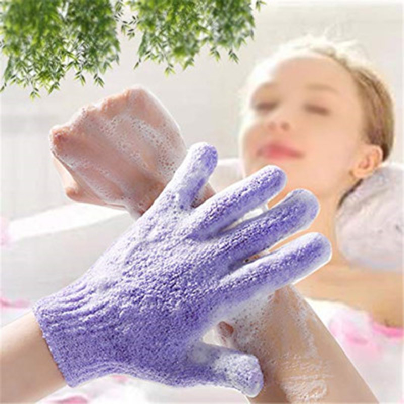4pcs Exfoliating Bath Gloves  2 Pairs Pack  Bathing Five-finger Gloves Children Bath Towel Colorful Soft Bubble Bath Towel Gloves