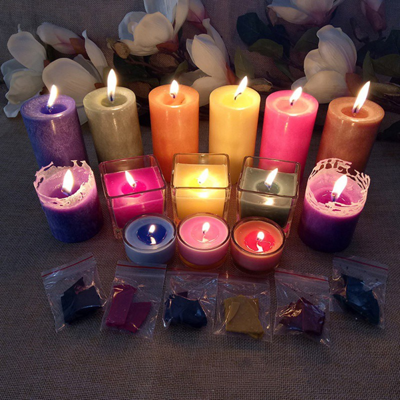 8-10g Handmade Candle Material 10 Colored Candle Pigment Coloring Candles Supplies DIY Candle Dye Paints Soy Wax Candle Oil