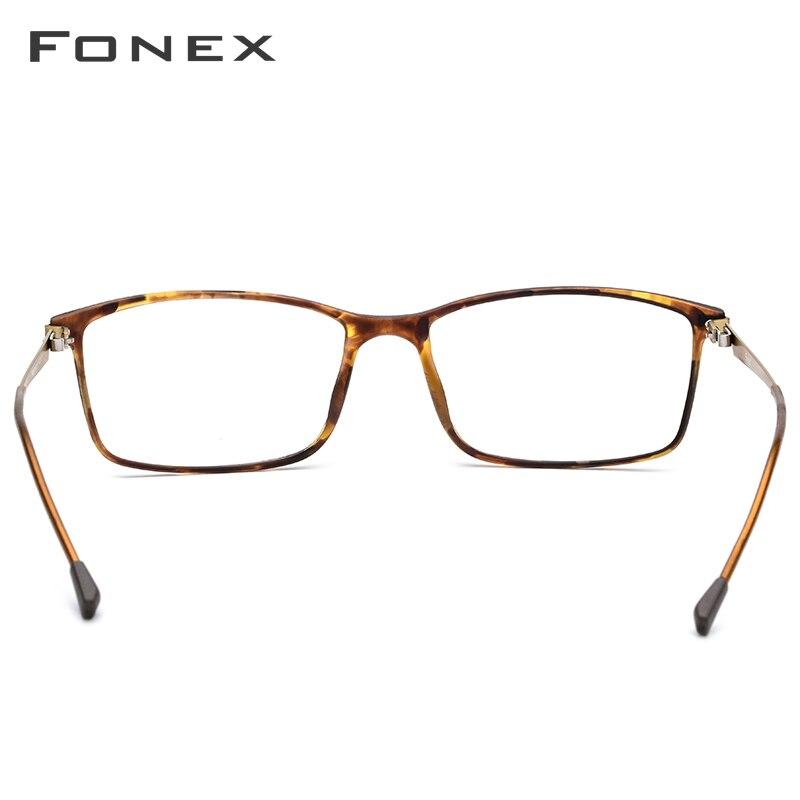 FONEX TR90 alliage lunettes de Prescription hommes myopie oeil verre lunettes cadre 2019 coréen sans vis optique montures lunettes 9855 - 4