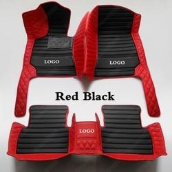 Alfombrillas de coche para Mitsubishi Lancer Evo Galant ASX Pajero Sport V93 V97 Outlander Peev Grandis, accesorios para coche, alfombra roja y negra