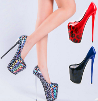 2020 Sexy Wedding Fetish Round Toe Woman Pumps Platform Very High Heel Pumps 19 CM Woman Nightclub Catwalk shoes plus size34-50 image