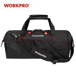 WORKPRO sacs à outils, Portable étanche électricien sac multifonction toile outil organisateur pour réparation Installation cvc