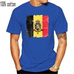2019 nova camisa do homem do verão bandeira da bélgica-símbolo nacional do país do orgulho camiseta masculina engraçada