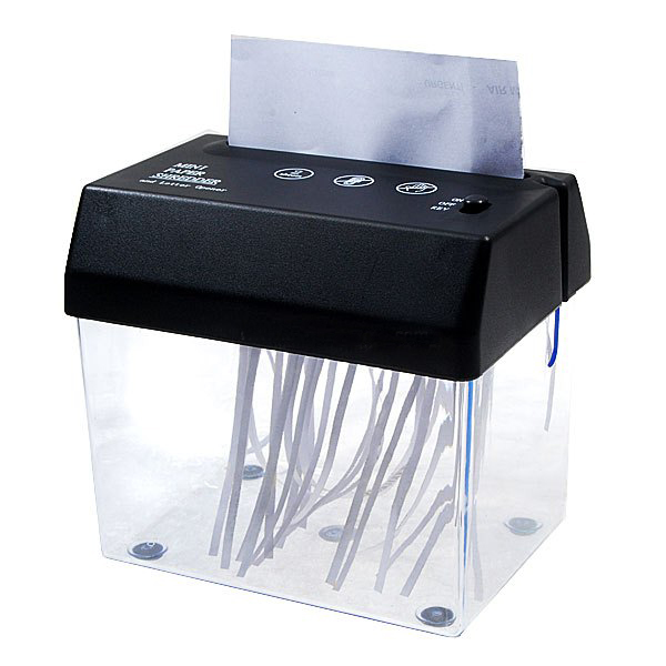 HOT-Desktop A5 Or A4 Folded Paper Strip-cut Mini Small USB Shredder For Home/Office