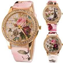 Лидер продаж! Женские кварцевые наручные часы Стразы с инкрустированным
