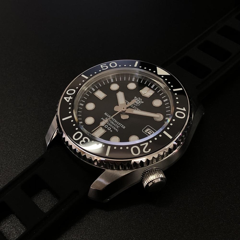STEELDIVE 1968 300m Diver Watch Ceramic Bezel Dive Watch Super C3 Luminous Watch Men Automatic Japan NH35 Mechanical Watches Men