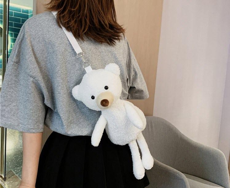 Купить мягкая игрушка медведь мешок винтаж packpack для девочек модная