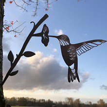 Sign Bird-Decoration Your-Yard Metal for Tree And Outdoor Hummingbird