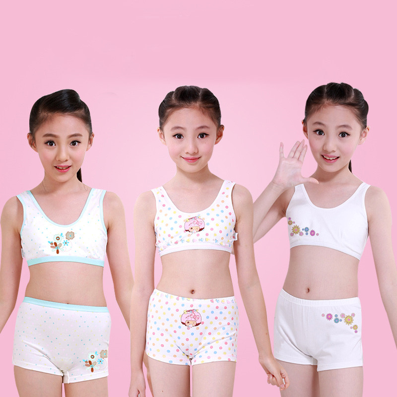 Cotton Braces Bras For Girls 12 Years Old Young Girl Clothing Tops 12 Year Old Girl's Panties Topic For Children Undergarments