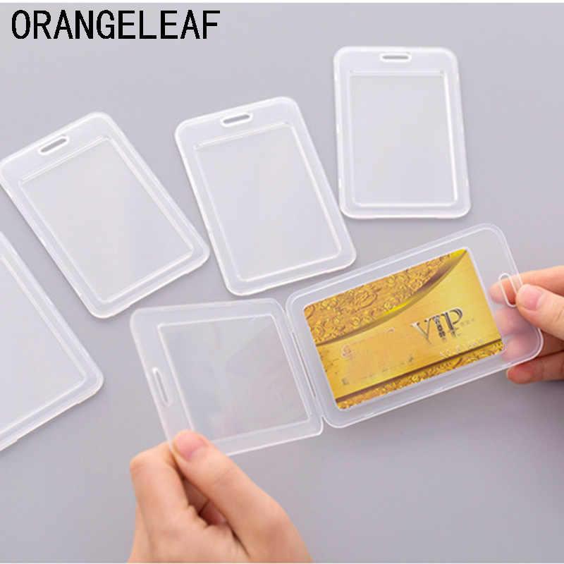 Zagęścić etui zabezpieczające na karty kredytowe bezpieczne rękawy ID posiadacz karty pcv przejrzyste wizytówki rękaw dla kobiet mężczyzn