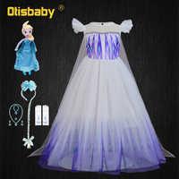 Snow Queen-vestido de Elsa para niña, vestido de fiesta de cumpleaños de princesa, vestido de Elsa de mascarada de Halloween, vestido de hada