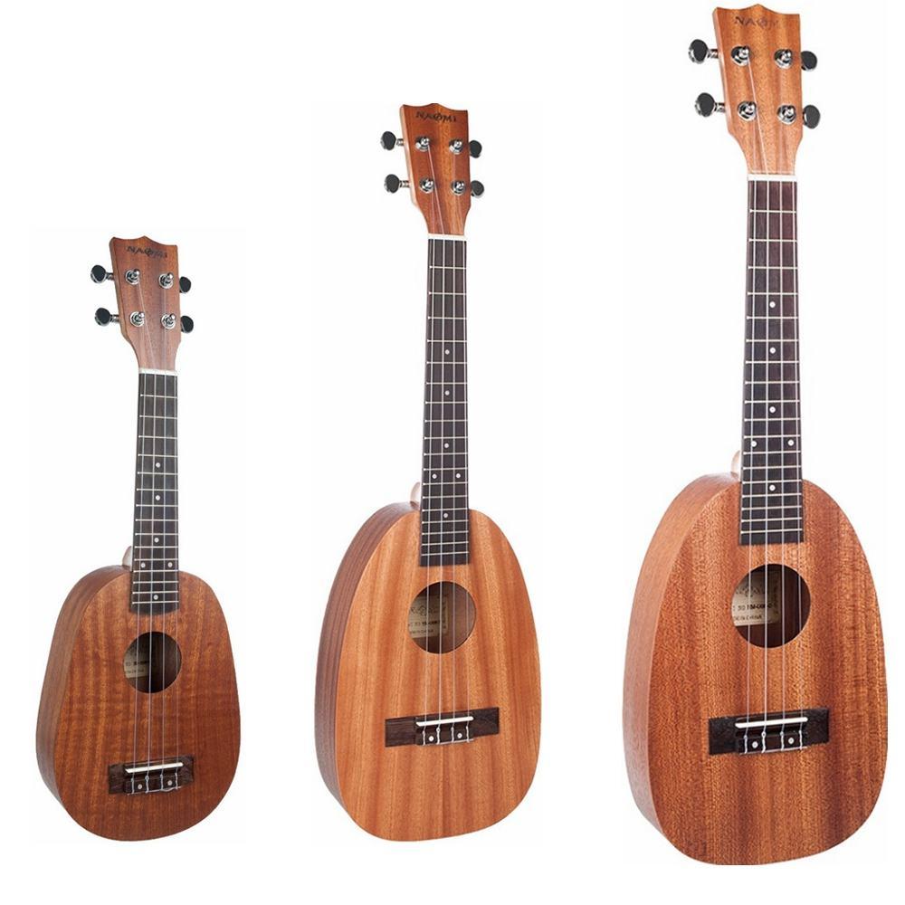 23 pouces Mini guitare Soprano ukulélé 21 pouces ananas forme sapélé Ukelele mat étudiant enfant cadeau pour débutant ukulélé Guitarra