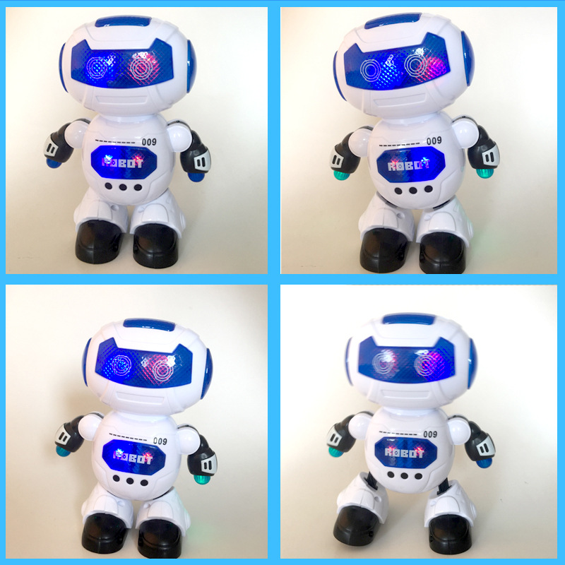 Dancing Robot Colorful Light Music A Key Dancing Electric Space Robot Toys Stall Toy