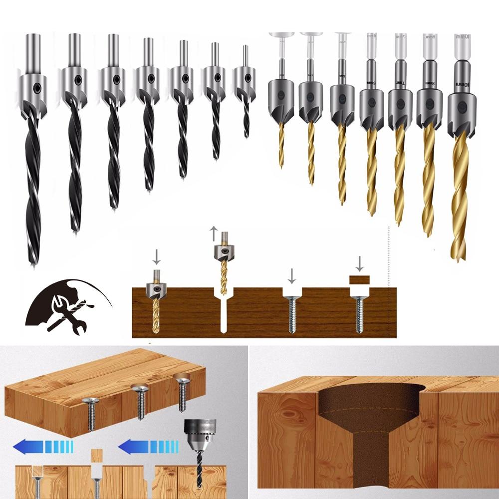 Countersink Drill Woodworking Drill Bit Set Drilling Pilot Holes