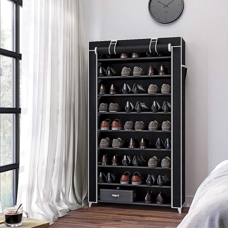 9 Layers Shoe Rack  Save Space Home Shoes Rack Holder Shelf Cabinet Non-Woven Fabric Shoe Stands Organizer Rack HWC