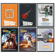 цена на Back to the Future II Movie Poster Wall Stickers For Home Bar Cafe 42X30cm