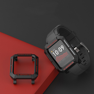 Image 2 - For Amazfit Bip Case Smart Watch protector for Xiaomi Tough Armor Cover for Huami Bip Lite Bip S Bumper PC TPU Shell Multicolor