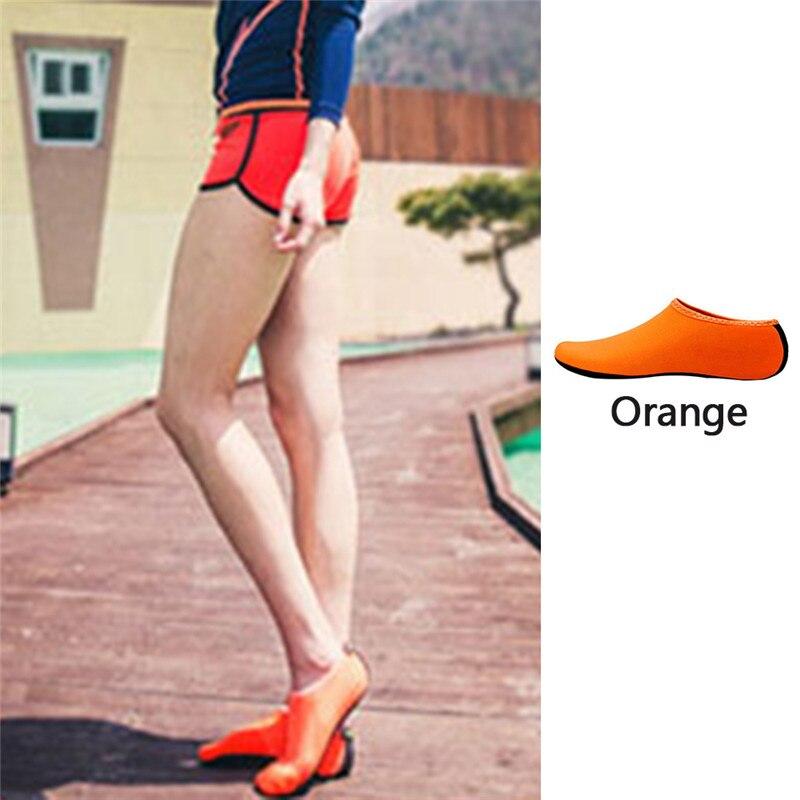 Водонепроницаемая обувь; обувь для плавания для мужчин и женщин; пляжная обувь для кемпинга; обувь для йоги; складная обувь унисекс для взрослых; мягкие Прогулочные кроссовки на плоской подошве; Новинка - Цвет: orange