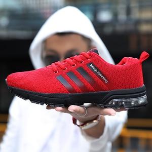 Image 5 - 2020 primavera outono mulher tênis de corrida wearable almofada de ar das sapatilhas confortáveis casuais moda apartamentos sapatos esportivos masculinos