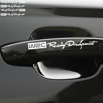4 x Car-styling WRC Car Door Handle Stickers Decal for Toyota Camry Highlander RAV4 Crown Reiz Corolla Vios Yaris L image