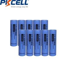 PKCELL – batterie Lithium-ion Rechargeable 18650, 3350mah, 3.7 v, pour lampe de poche, ICR18650, 10 pièces