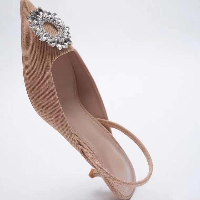 2021 sandálias de verão za feminino, decoração