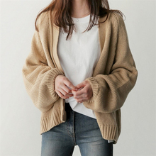 Woman Sweater Casual Batwing Sleeve Knitwear Cardigan Women Large Knitted Jumper Coat 2019