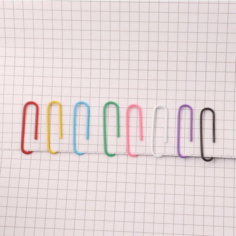 100 шт зажимы для бумаги с пластиковым покрытием цветные бумажные