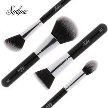 Sylyne кисти для макияжа высокое качество 4 шт. Профессиональный набор кистей для макияжа классическая черная ручка для лица набор кистей для макияжа инструменты