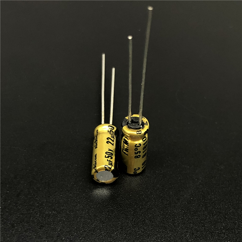 10pcs 22uF 50V NICHICON FW Series 5x11mm 50V22uF HiFi Audio Capacitor