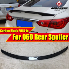 For Infiniti Q60 Tail Rear Spoiler Trunk wings Nissan style Carbon Q60S wing 2018-