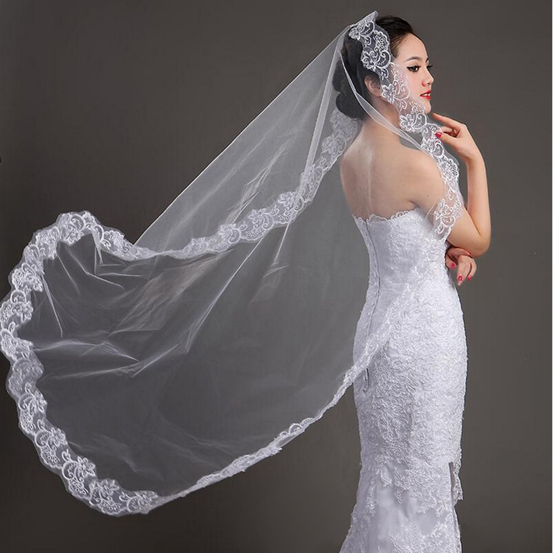Discount 1.4m Wedding Veil Gift White Ivory Free For   Bridal Veil Mariage Wedding Accessories