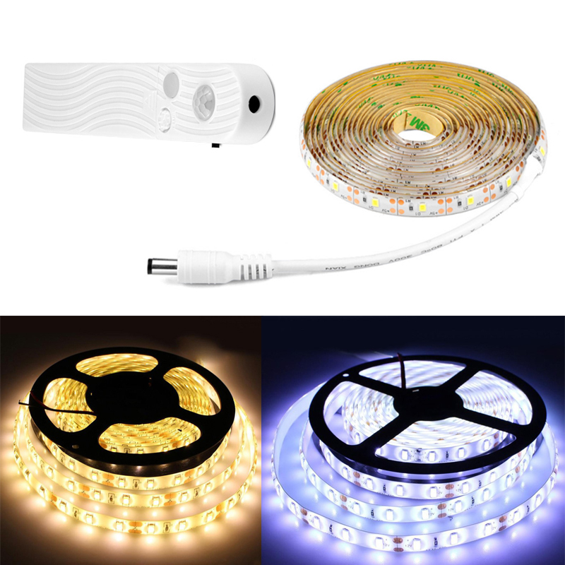 Wireless Motion Sensor LED Strip Night Light Led Strip Battery Power Under Bed Closet Wardrobe Cabinet Stairs Luces Led Strip