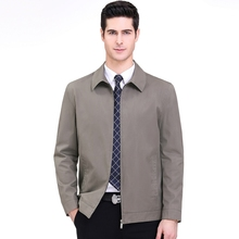 2020 new fashionable casual men's jacket simple and versatile Lapel coat Zipper ultra thin