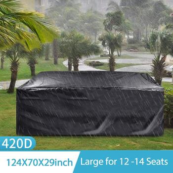 MINIFUN TABLE COVER OUTDOOR COURTYARD FURNITURE SET WATERPROOF TABLE AND CHAIR SHIELD