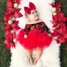 Flowers Baby Girl Birthday Outfits Infant 1st Party Tutu Clothes Set With Headband Bodysuit Pettiskirt Floral Suit For Baby Girl(China)