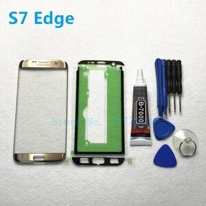 Image 2 - Front Outer Glas Linse Panel ersatz Für Samsung Galaxy S7 Rand G935 G935F S7 G930 G930F LCD touch screen + b 7000 kleber Werkzeug