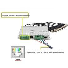 Pripaso 8 CH HD 720 P/1080 P วิดีโอแบบ Passive Balun Transceiver RJ45 BNC UTP Cat5/5e/ 6 สายวิดีโอเกียร์สำหรับกล้องวงจรปิด DVR