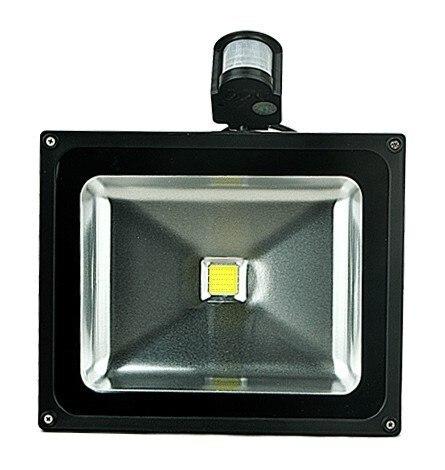 (Бесплатная DHL/FedEx) 12 В 10 Вт 20 Вт 30 Вт 50 Вт PIR детектор движения сенсор светодиодный прожектор наружный светодиодный прожектор Ландшафтный све...
