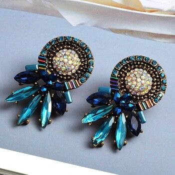 Colorful Crystal Earrings 4
