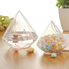 6Pcs Transparent Plastic Candy Box Wedding Favor Birthday Party Gift Present Supplies Home Decor