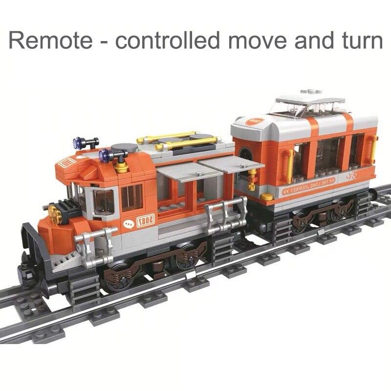 473pcs Novo Clássico Trem a vapor Cidade Blocos Montar Technic Crianças Conjunto faça você mesmo