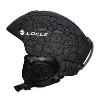 LOCLE Outdoor Sports Men Women Skiing Helmet 6 Colors Ski Helmet CE Certification Snow Ski Snowboard Skateboard Helmet 55 61cm