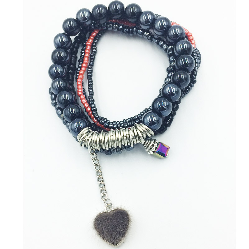 Crystal bracelet handmade beaded ladies simple fashion high quality crystal beads Heart  friendship jewelry