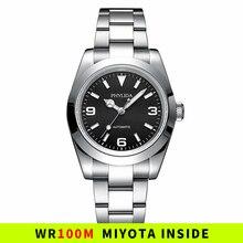 39 мм автоматические механические роскошные часы Explorer tribute черный циферблат 100 м водостойкие