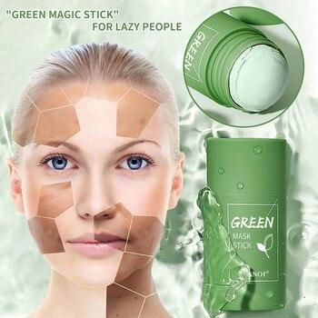 Green Tea Purifying Stick Mask Oil Control Anti-Acne Eggplant Solid Fine 1