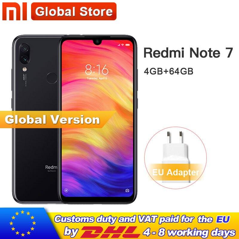 "Global Version Xiaomi Redmi หมายเหตุ 7 64GB ROM 4GB RAM โทรศัพท์มือถือ Snapdragon 660 Octa Core 4000mAh 6.3 ""13MP + 48MP Dual กล้อง โทรศัพท์มือถือ  - AliExpress"