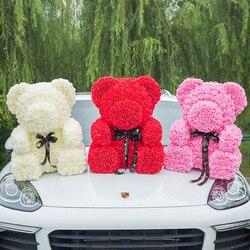 2019 Горячая продажа 70 см медведь розы, искусственные цветы домашний свадебный фестиваль DIY дешевые украшение для свадьбы подарок коробка вен...