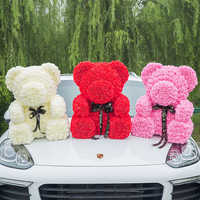 2019 Hot Sale 70cm Bear of Roses Artificial Flowers Home Wedding Festival DIY Cheap Wedding Decoration Gift Box Wreath Crafts